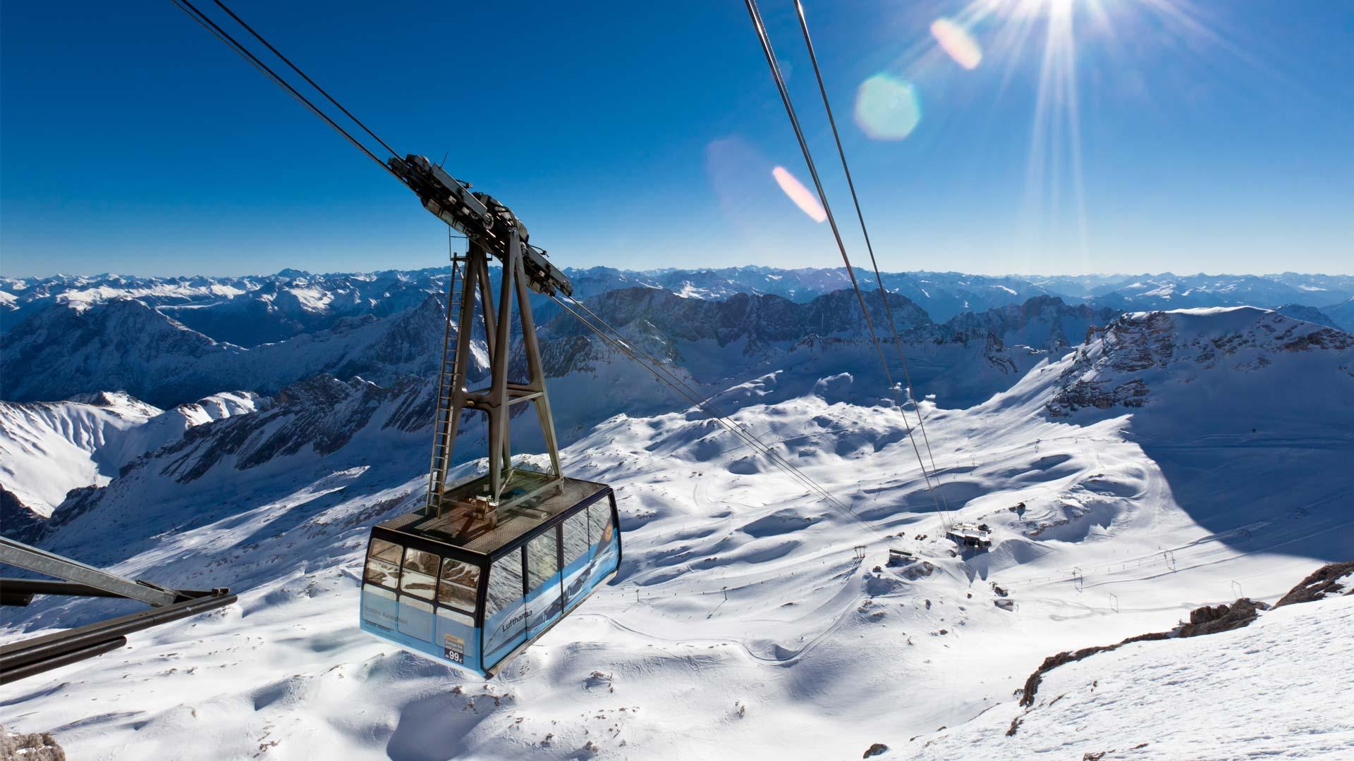 Skifahren Zugspitze Hotel